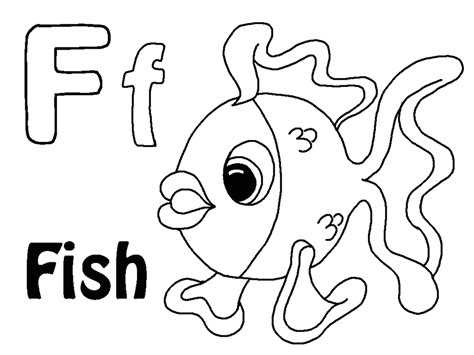 coloring page for the letter f letter f coloring pages to download and print for free