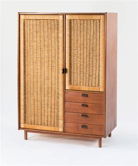 librero y ropero sebastian muggenthaler teak and rattan wardrobe 1960s