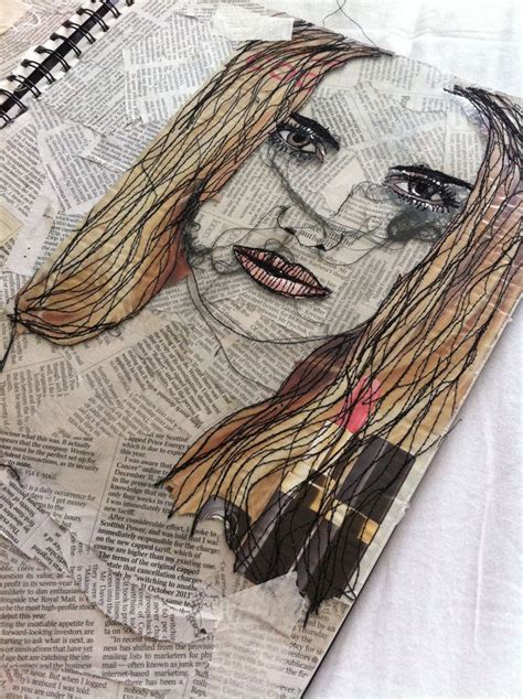 embroidery face 17 best images about quot stitched up quot portraits on