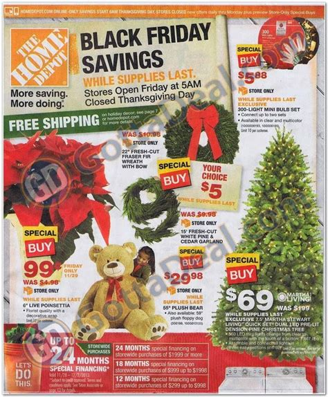 home depot black friday ad is here