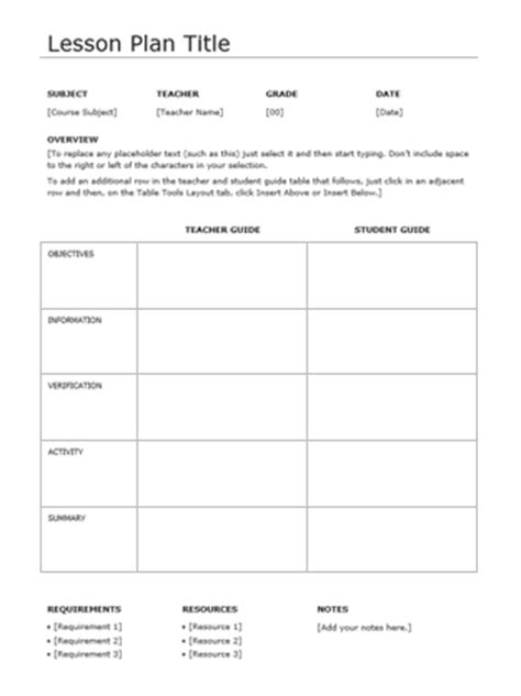 daily lesson plan templates documents  pdfs
