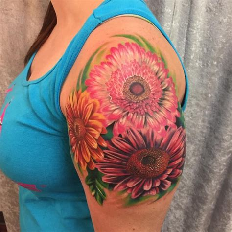 85 nice daisy flower tattoo designs amp meaning