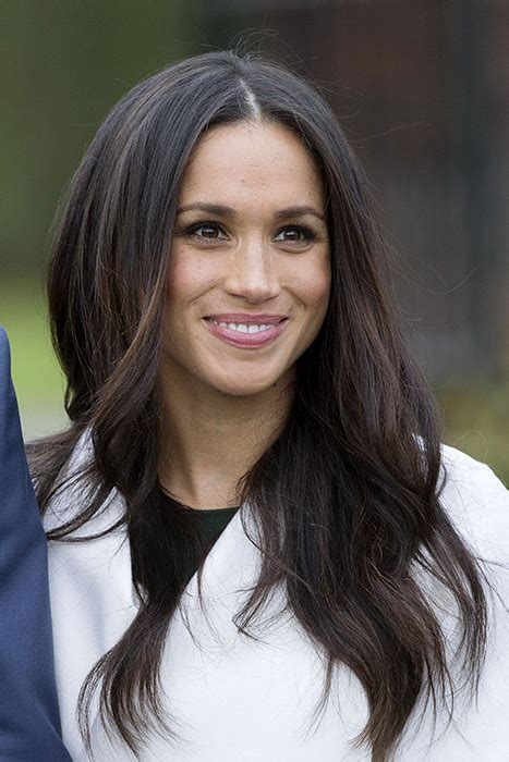 down hairstyles for oval faces meghan markle s glowing engagement photocall make up secrets