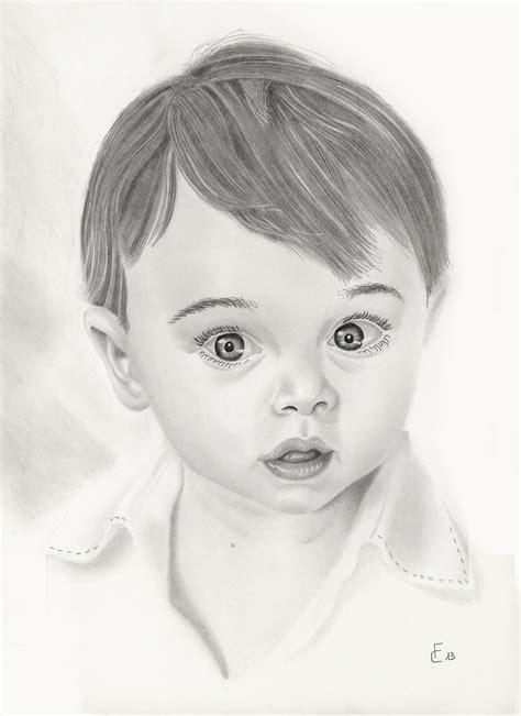 la bambino ritratti a matita di bambini e disegni arrivano al cuore