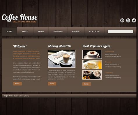 shopsite templates coffee shop website template 44060