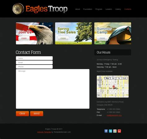 Free Website Template Youth Organization Site Template Free