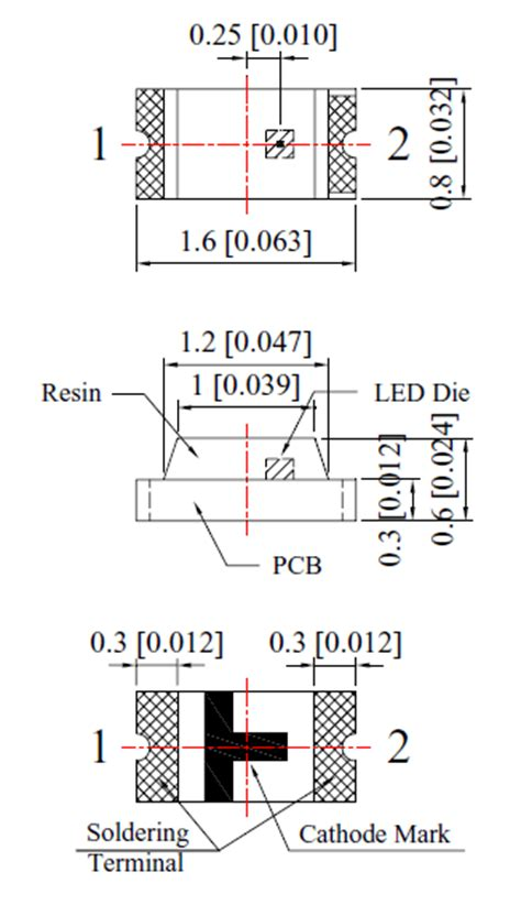 white  type smd led technical data