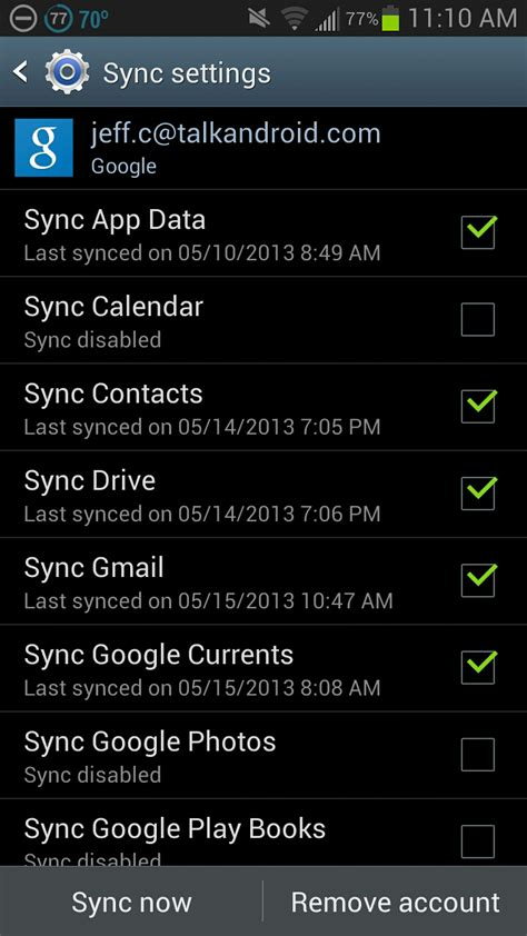 transfer apps android sync services quietly adds a new settings talkandroid
