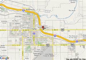 map of arizona yuma map of comfort inn yuma yuma