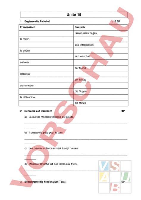Musterbrief Angebot Französisch Www Unterrichtsmaterial Ch Franz 195 182 Sisch Lehrmittel Pr 195 188 Fung Unit 195 169 15 Arbeitsbl 195 164 Tter