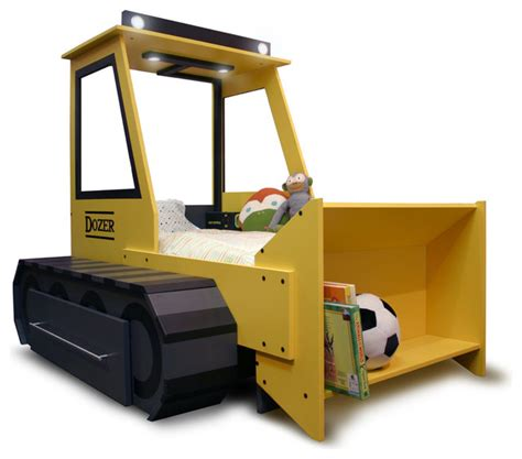 bulldozer bed dozer bed kids beds other metro by sitka studios