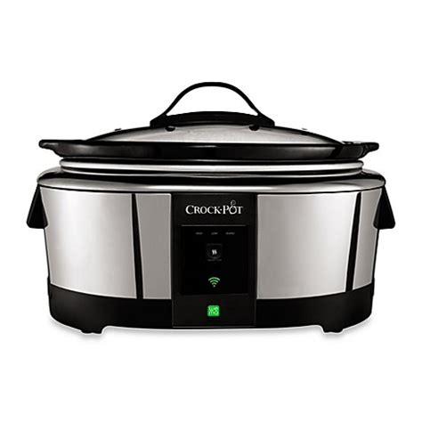 slow cooker bed bath and beyond crock pot 174 smart slow cooker enabled with wemo bed bath