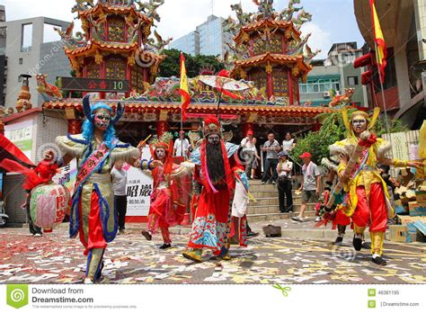 new year traditions customs taiwan taiwan performing the five ghosts and zhong kui