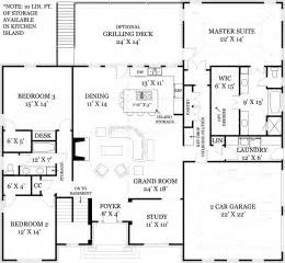 Open Floor Plan Blueprints Mystic 1850 3 Bedrooms And 2 5 Baths The House Designers