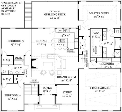 open space house plans i like the foyer study open concept great room and kitchen portion of this floor plan and how