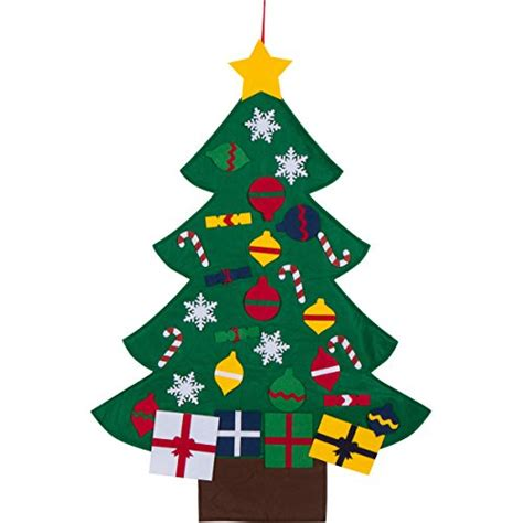 3ft felt christmas tree set with ornaments wall hanging