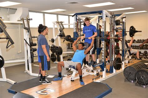 the weight room high point central high school receives weight room equipment