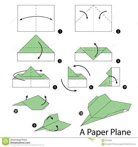 How To Make Origami Plane - step by step how to make origami a plane