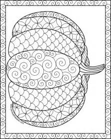 large pumpkin coloring page