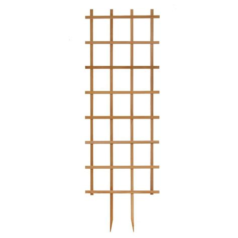 24 in w x 72 in h cedar rectangle trellis 24672 the