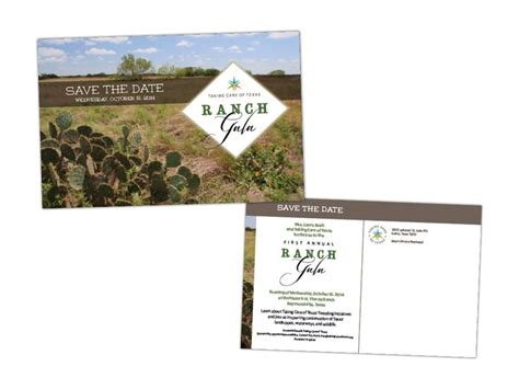 fundraiser save the date card templates taking care of ranch gala save the date card