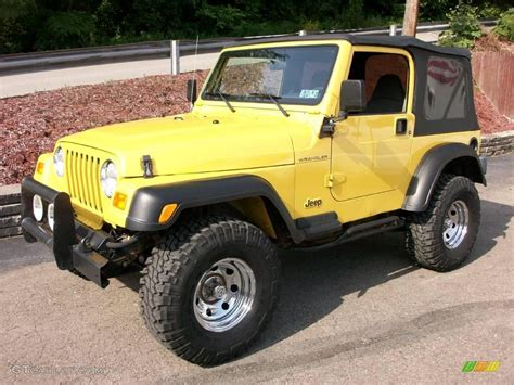 yellow jeep 2002 solar yellow jeep wrangler x 4x4 10831656 photo 11