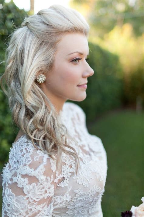 half up half down hairstyles front and back view gorgeous half up and half down hairstyle for bride