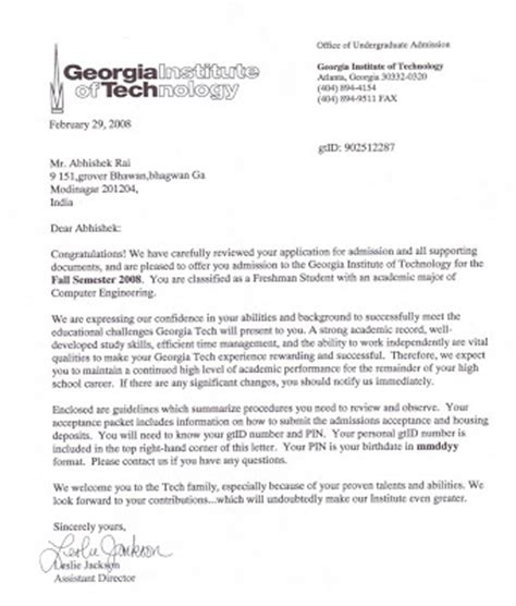Georgian College Acceptance Letter Success Is A Journey Not A Destination The Journey To Tech
