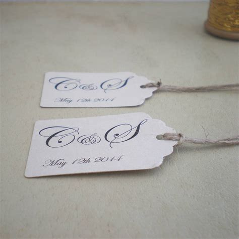 Personalised Wedding Favours by Personalised Wedding Favour Tags By Edgeinspired