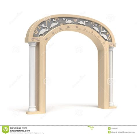 archway decoration archway with vintage decoration stock photography image