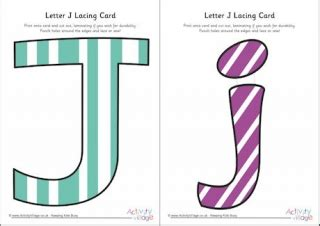 Alphabet Lacing Cards Templates by Letter J Printables