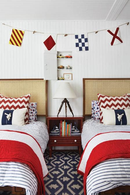 nautical coastal home decor southern living seaside style three cheers for red white and blue