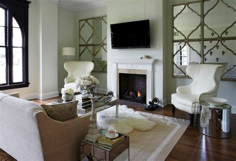 Mirror Tables For Living Room Fireplace Bench Transitional Living Room Jackson Interiors