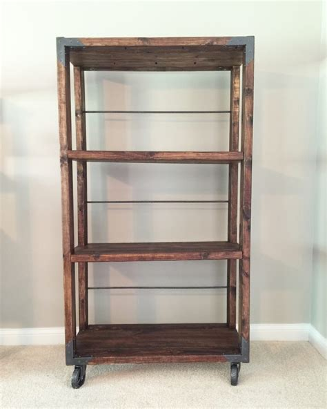 industrial cart bookcase shanty 2 chic