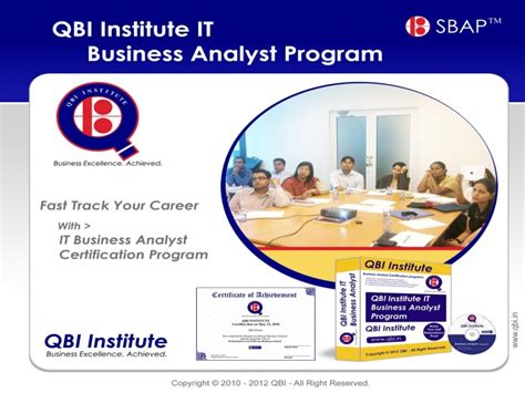 Of Business Analyst In Mba Programs by It Business Analyst Certification Program Distance Learning