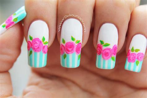 imagenes de uñas rosadas decoraci 243 n de u 241 as rosas vintage vintage roses nail art