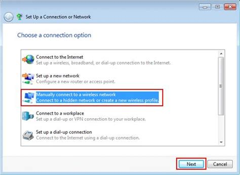 windows 7 wireless adapter configuration
