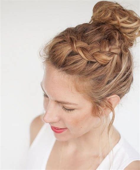 love knots hairstyle 25 best ideas about braided top knots on pinterest top