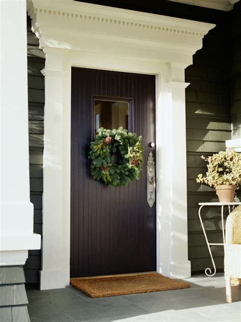 front door entrance decorating ideas 7 front door christmas decorating ideas hgtv