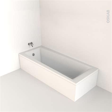baignoire 170x70 baignoire rectangulaire 170x70 cm acrylique renforc 233 taio