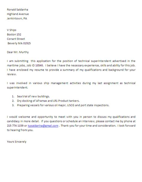 technical cover letters technical cover letter resume badak