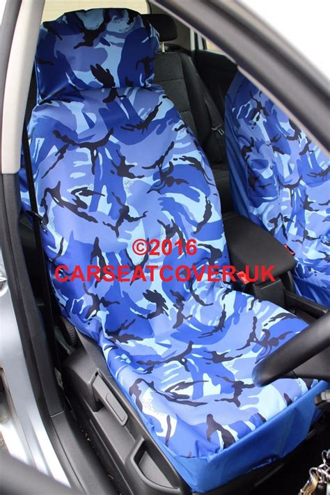 blue camouflage car seat covers toyota starlet 1996 99 blue camouflage waterproof car