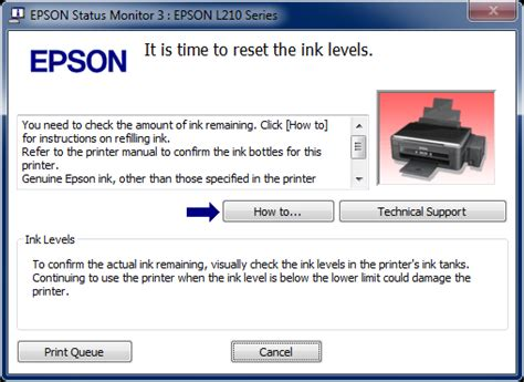 Reset Ink Level Epson L210 Manual | mengatasi blink printer epson l210 it is time to reset ink