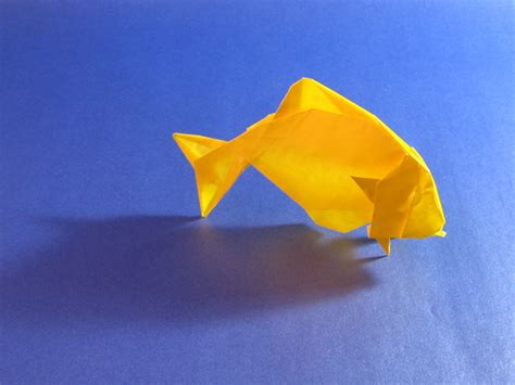 Gold Fish Origami - goldfish eric joisel happy folding