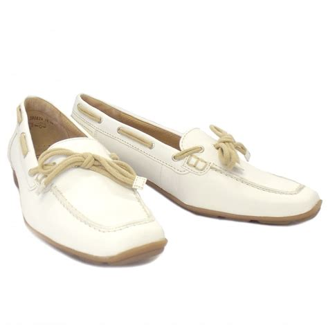 white leather loafers gabor shoes obern loafers in white leather mozimo