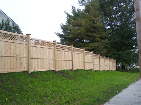 privacy fences  hill fence