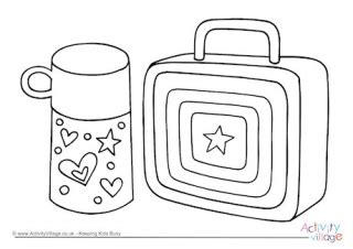 school lunch coloring page school children colouring page