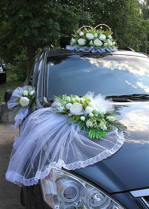 Autodeko Hochzeit by Autoschmuck Set Ringe Autodeko Mit Schleier Wei 223