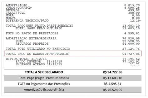 informe de rendimento financiamento da caixa como declarar financiamento habitacional no imposto de