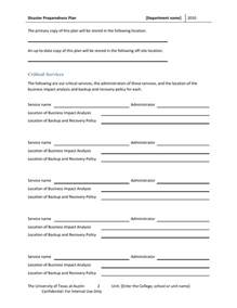 Emergency Response Policy Template by Disaster Preparedness Plan Template